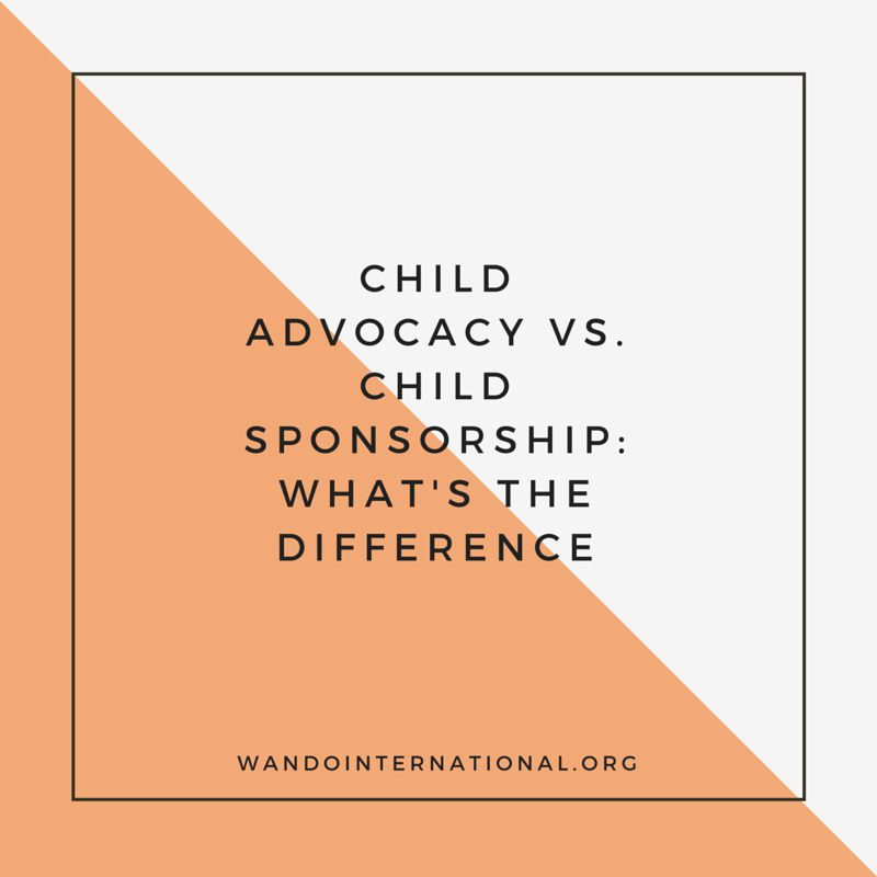 child advocacy vs. child sponsorship: what's the difference