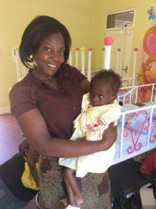 sick child in Ugdandan hospital