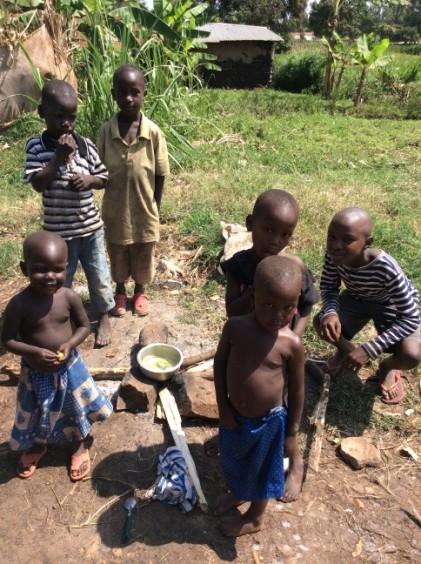 kids cooking in uganda