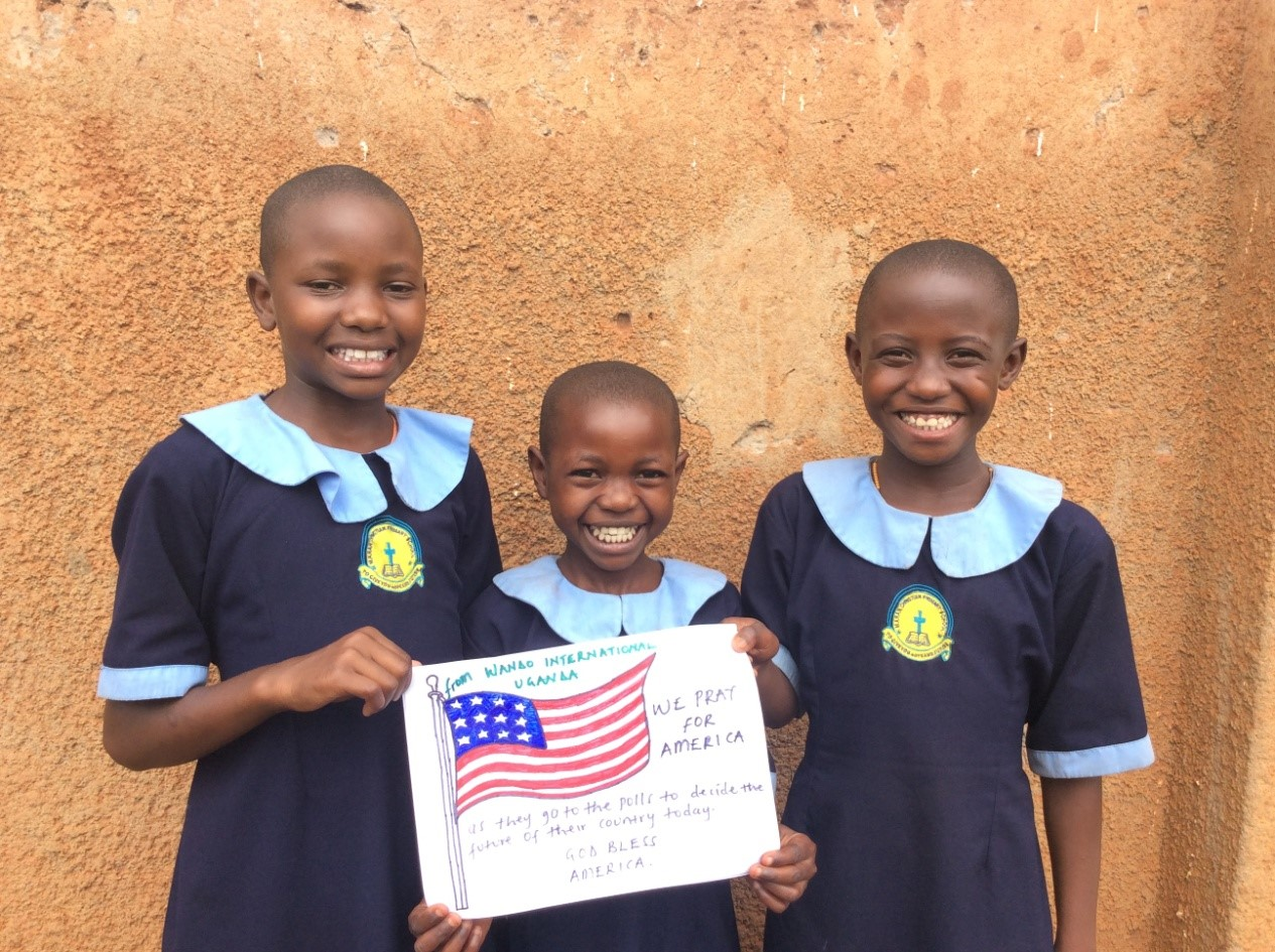 Ugandan-kids-show-support-for-American-voters